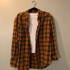 Yellow, red and black flannel